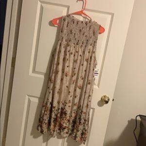 NWT! Tan floral dress
